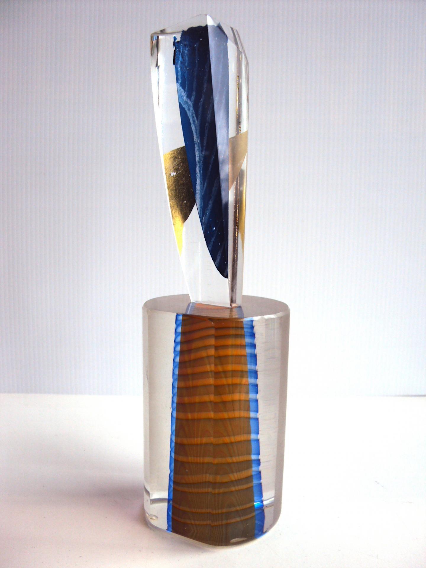 Sculpture verre soufflé et polis à froid