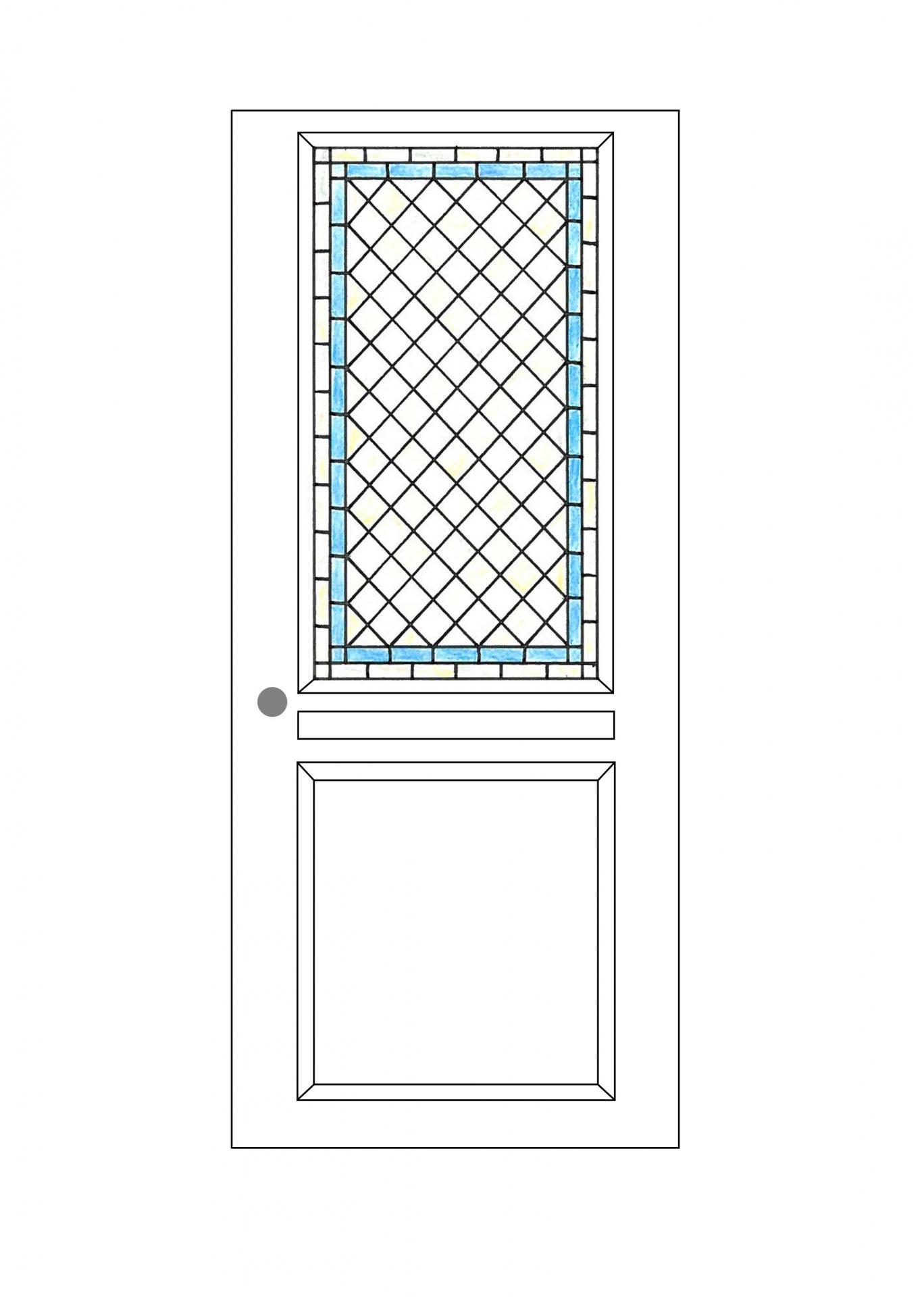 Création vitrerie en losange